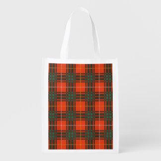 Bruce clan Plaid Scottish tartan Grocery Bags