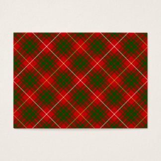 Bruce clan tartan red green plaid business card