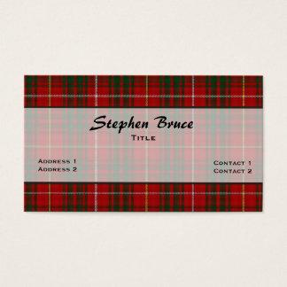 Bruce Clan Traditional Tartan Plaid Custom Business Card