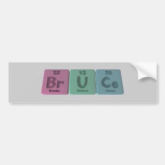 Bruce como cerio del uranio del bromo pegatina para auto