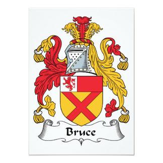Bruce Family Crest 5x7 Paper Invitation Card