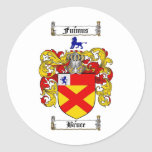 BRUCE FAMILY CREST -  BRUCE COAT OF ARMS CLASSIC ROUND STICKER