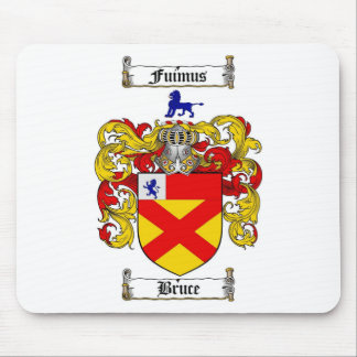 BRUCE FAMILY CREST -  BRUCE COAT OF ARMS MOUSE PAD