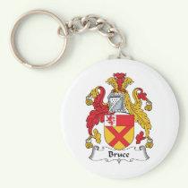 Bruce Family Crest Keychain