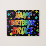 "[ Thumbnail: ""Bruce"" First Name, Fun ""Happy Birthday"" Jigsaw Puzzle ]"