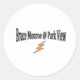 BRUCE MONROE @ PARKVIEW E.S. PEGATINA REDONDA