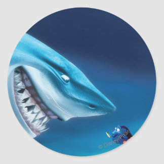 Bruce, Nemo and Dory 1 Classic Round Sticker