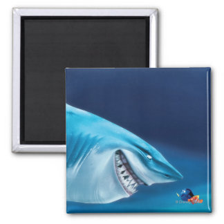 Bruce, Nemo and Dory 1 2 Inch Square Magnet