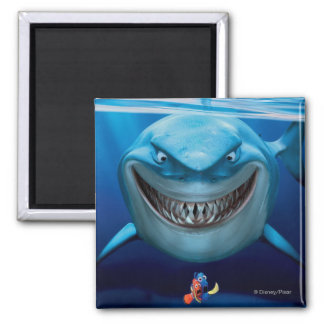 Bruce, Nemo and Dory 2 2 Inch Square Magnet