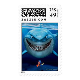 Bruce, Nemo and Dory 2 Postage Stamp