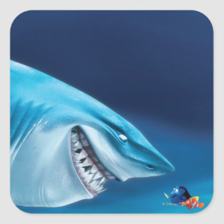 Bruce, Nemo y Dory 1 Pegatina Cuadrada