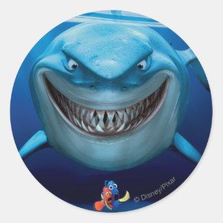 Bruce Nemo y Dory 2 Etiqueta Redonda