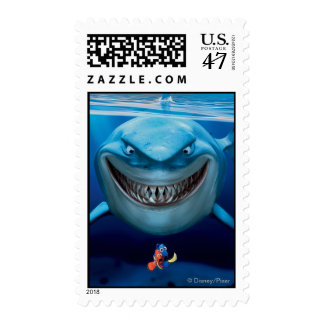 Bruce, Nemo y Dory 2 Timbres Postales