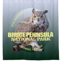 Bruce Peninsula NP (Great Horned Owl) Shower Curtain
