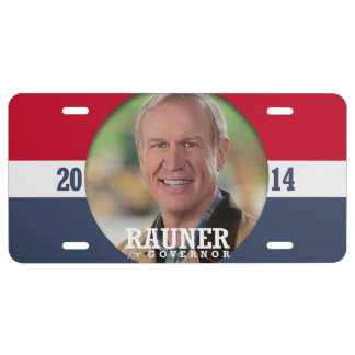 BRUCE RAUNER CAMPAIGN LICENSE PLATE