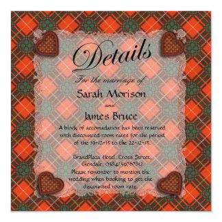 Bruce Scottish clan tartan - Plaid Invitation