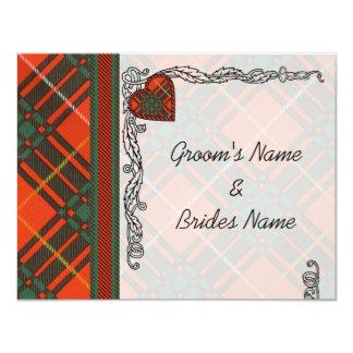 Bruce Scottish Tartan 4.25x5.5 Paper Invitation Card