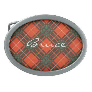 Bruce Scottish Tartan Oval Belt Buckle
