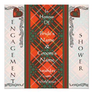 Bruce Scottish Tartan Invitation