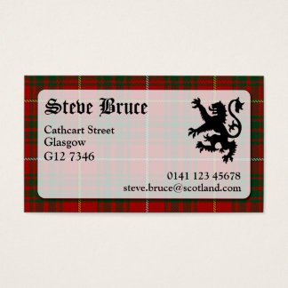 Bruce Tartan Business Card