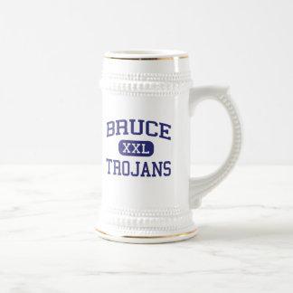 Bruce - Trojans - High School - Bruce Mississippi 18 Oz Beer Stein