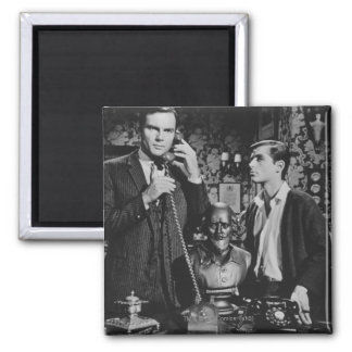 Bruce Wayne and Dick Grayson 2 Inch Square Magnet