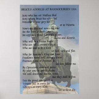 Bruce's address at Bannockburn 1314 Poster