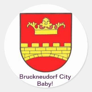 Bruckneudorf town center baby sticker