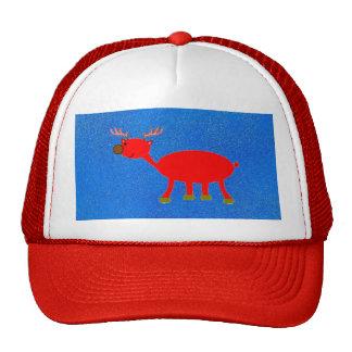 Brudolf el gorra del reno de la nariz de Brown
