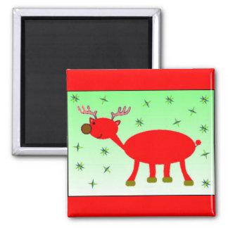 Brudolf the Brown Nose Reindeer Magnet