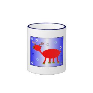 Brudolf the Brown Nose Reindeer Mug