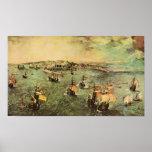Bruegel-Puerto de Pieter de Nápoles Posters
