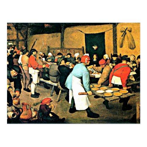 Bruegel the Elder_Peasant Wedding_1568 Postcard
