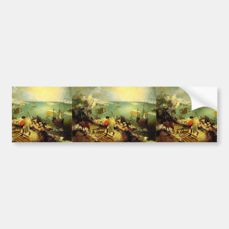 Bruegel's Landscape with the Fall of Icarus - 1558 Bumper Sticker
