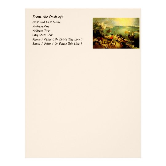 Bruegel's Landscape with the Fall of Icarus - 1558 Letterhead