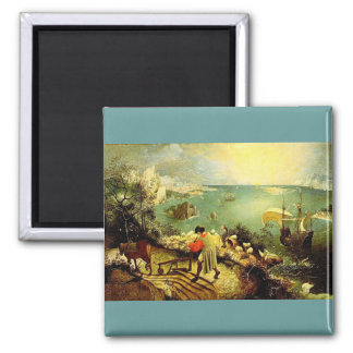 Bruegel's Landscape with the Fall of Icarus - 1558 Magnet