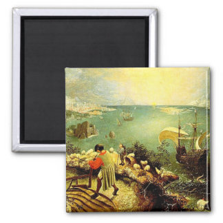 Bruegel's Landscape with the Fall of Icarus - 1558 Refrigerator Magnet