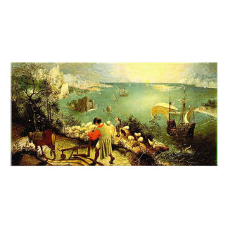 Bruegel's Landscape with the Fall of Icarus - 1558 Photo Card Template