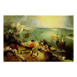 Bruegel's Landscape with the Fall of Icarus - 1558 Poster
