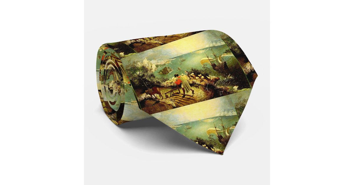 Landscape Ties Chilliwack : Bruegel s landscape with the fall of icarus tie