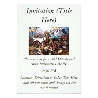 "Bruegel's ""The Fall Of The Rebel Angels"" (1562) 4.5x6.25 Paper Invitation Card"