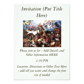 "Bruegel's ""The Fall Of The Rebel Angels"" (1562) 5.5x7.5 Paper Invitation Card"