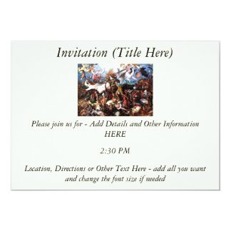 "Bruegel's ""The Fall Of The Rebel Angels"" (1562) 5x7 Paper Invitation Card"