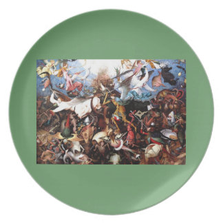 """Bruegel's """"The Fall Of The Rebel Angels"""" (1562) Dinner Plate"""