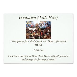 "Bruegel's ""The Fall Of The Rebel Angels"" (1562) 5"" X 7"" Invitation Card"