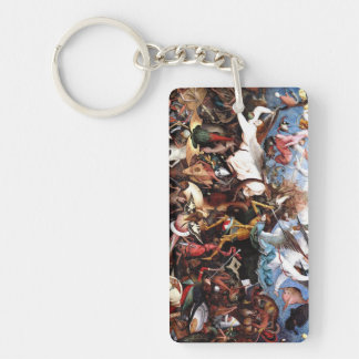 """Bruegel's """"The Fall Of The Rebel Angels"""" (1562) Double-Sided Rectangular Acrylic Keychain"""
