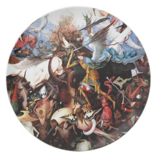 "Bruegel's ""The Fall Of The Rebel Angels"" (1562) Melamine Plate"