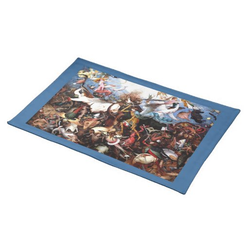 """Bruegel's """"The Fall Of The Rebel Angels"""" (1562) Place Mats"""