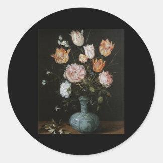 Brueghel the Elder Flower Piece Round Stickers