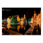 Bruges at night card wenskaart